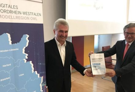 Exchange with Minister Pinkwart regarding to INSPIRE and Modellregion OWL